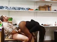 Getting fucked in my ebony amateur sex video clip