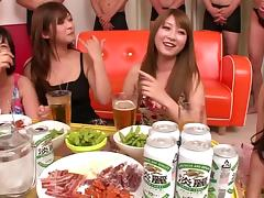 Cool house party turns into a sweaty groupsex action for immaculate Asian cowgirls porn tube video