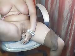 Chubby Aged Plays with Herself
