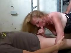 saggy tits mature threesome and DP