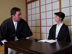 Submissive Japanese girl gets fucked right in a restaurant