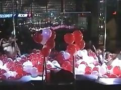 Pole dance and lesbian show with balloons tube porn video