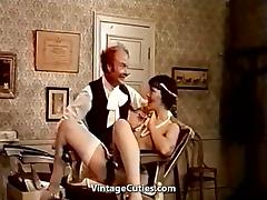 Group of Girls Learning to Fuck with Bananas (1970s Vintage) porn tube video