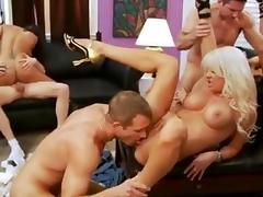 Pornstar, Big Tits, Brunette, German, Group, Orgy