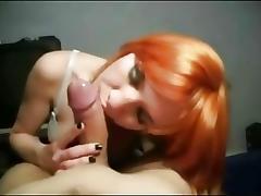 Non-Professional Redhead Cocksucking floozy