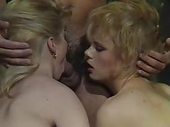 Brunette, Blonde, Blowjob, Brunette, Vintage