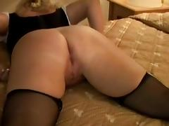 Curly blonde milf takes black cock creampies tube porn video