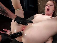 Ella Nova goes wild in harsh BDSM porn show