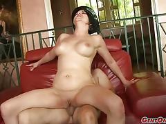 Racy Cassidy Lynn rides this hard cock