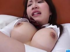 Shizuku Morino busty angel devours cock in nasty ways porn tube video