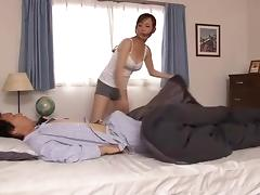Mom and Boy, Asian, Japanese, Mature, Mom, Old and Young