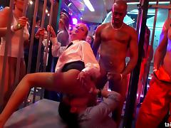 Party sluts get liquored up and fucked inside the night club porn tube video