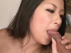Dirty threesome porn along busty Satomi Suzuki porn tube video