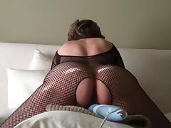 Bodystocking, Black, Bodystocking, Ebony, Lingerie, Masturbation