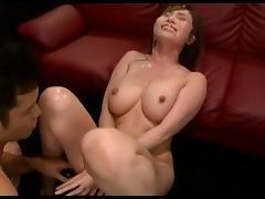 Masturbation & Bukkake For Chino Azumi