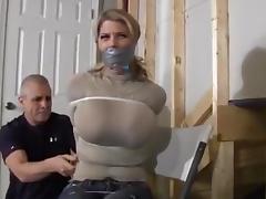 Zip Tied in jeans tube porn video