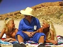 3some, Big Tits, Blonde, Blowjob, Ffm, Friend