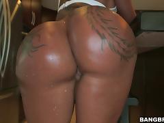 bella lets the man enjoy her big butt