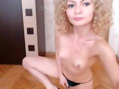 Horny amateur record with skinny, small tits, shaved, couple scenes