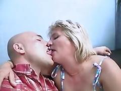 Mature, blonde and plump porn tube video