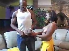 Cheerleader, Black, Cheerleader, Ebony, Tits