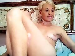 Italian Amateur, Blonde, Masturbation, Mature, Solo, Webcam