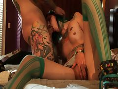 Alt tattooed and pierced babe krysta kaos fucked hard