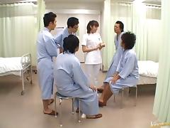 Hardcore big tits Japanese nurse gets gangbanged in the hospital