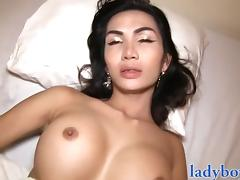 Big fake tits ladyboy whore anal drilled porn tube video