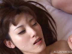 Hot Asian lover always swallows cum after a rough fucking porn tube video