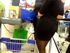 Sexy butt in store, ass, skirt, flasher porn tube video