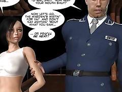Petite whore fucked in prison