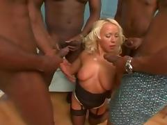White Blonde BiBi Fox Black Cock Double Penetraion And Anal tube porn video