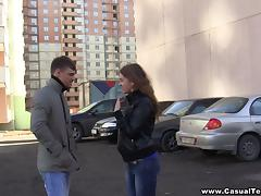 Casual parking lot hookup tube porn video