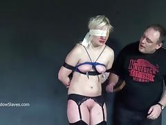Blonde slaveslut Chaos tit tortured merciless