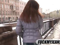 Jeans fetish girl also enjoys deep anal sex and giving blowjobs