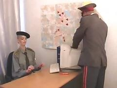 Military officers fucks his sexy secretary on her desk porn tube video
