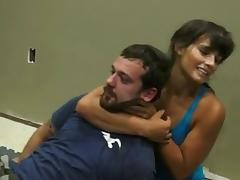 Mikaela submits painfully a dude