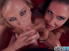 Cock cream craving babes Jessica Jaymes and Julia Ann tube porn video