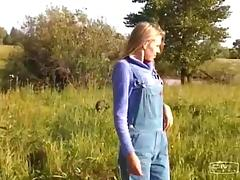 Farm girl meets a couple of military guys and fucks them both porn tube video