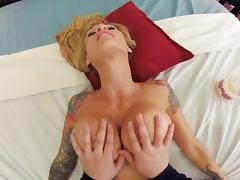 Bed, Bed, Bedroom, Big Tits, Blonde, Blowjob