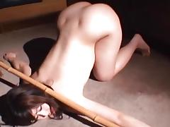 Naughty asian stripped and bound