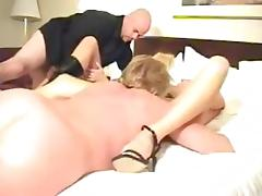 Foursome in hotel room
