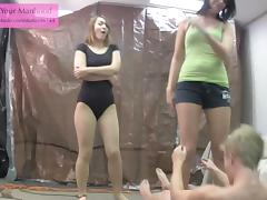 evil NOT siblings 2 ballbusting ballerina leotard pantyhose tube porn video