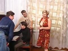 After fucking her these three guys unload their balls all over her tube porn video