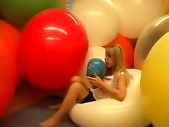 Blonde, Balloon, Blonde, European, Fetish, Sex