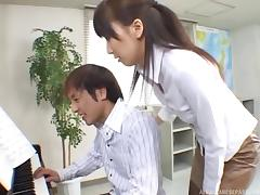 Japanese tutor gives him a piano lesson then gives him head tube porn video