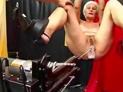 Grandma, BDSM, Fucking, Granny, Machine, Mature