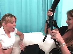 Lesbian Strapon, Big Tits, Bitch, Extreme, Fingering, Hardcore