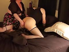 Kinky large glamorous mother and Crossdresser Couple Getting It On porn tube video